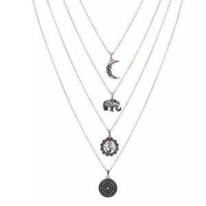 Jewelry - Boho multiple layer necklace cute elephant